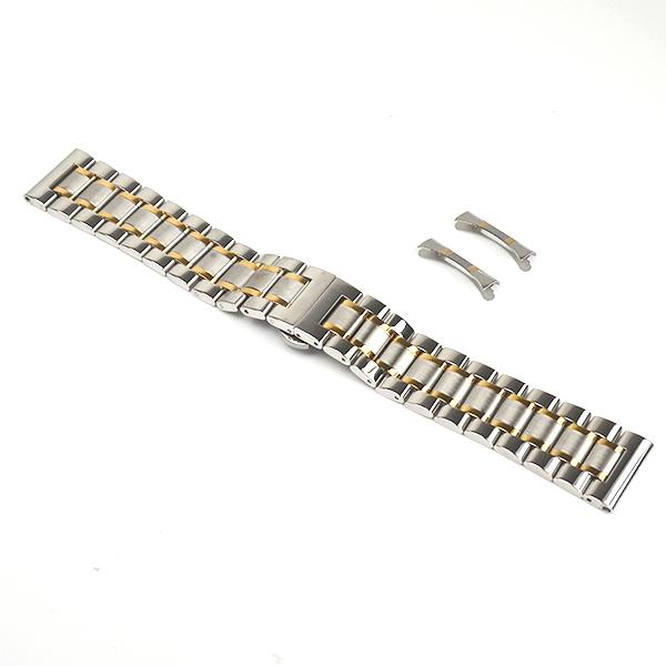 22mm錶帶 不鏽鋼錶帶 部分金電鍍 B22-1116半金