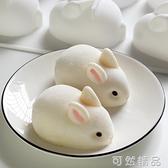 網紅6連兔子硅膠慕斯模具3D立體卡通小白兔布丁奶凍模果凍烘焙 雙12全館免運