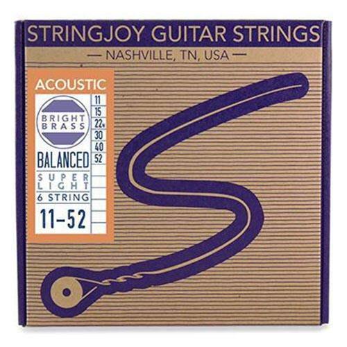 唐尼樂器︵美國 手工品牌 Stringjoy 10/11/12/13 Balanced 均衡張力 黃銅 民謠吉他弦