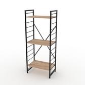 (組)特力屋萊特三層架黑框/淺木紋-60x40x158cm