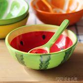 創意卡通陶瓷碗家用吃米飯碗喝湯碗可愛小碗日式餐具甜品碗水果碗 探索先鋒
