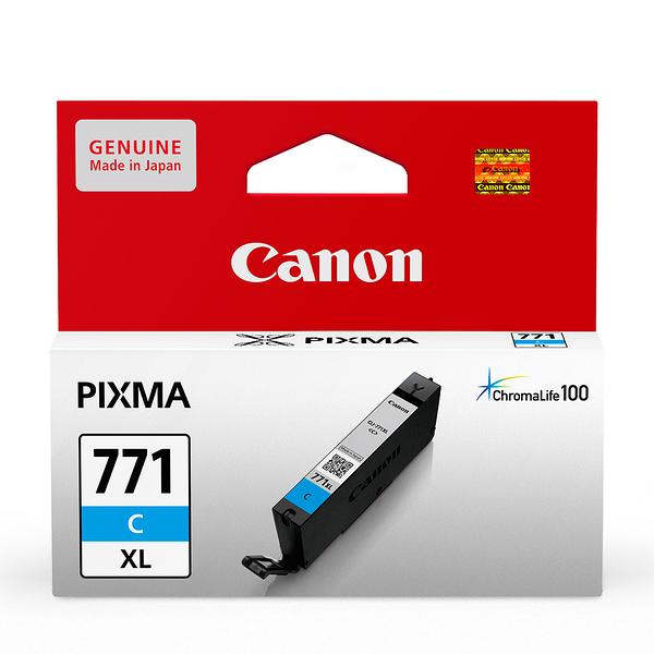 CANON CLI-771XL-C 原廠藍色高容量墨水匣