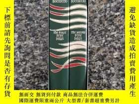 二手書博民逛書店《十日談》英國原版罕見Folio Society 出品全2冊 印刷精美高雅 私藏幹凈近 收藏閱