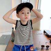 兒童背心寶寶無袖T恤薄款男童外穿運動潮夏季【淘夢屋】