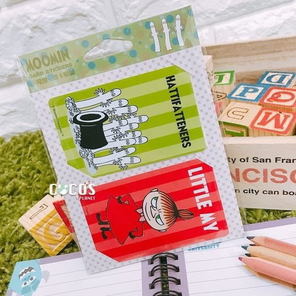 正版授權 moomin 嚕嚕米 姆咪一族 溜溜們 小不點 亞美 悠遊卡貼票卡貼紙 F款 COCOS DS025
