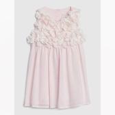 Gap女嬰立體花卉裝飾連衣裙544035-櫻花粉