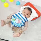 嬰幼兒童游泳圈防嗆新生兒0-1寶寶游泳衣浮力背心腋下免充氣脖圈☌zakka