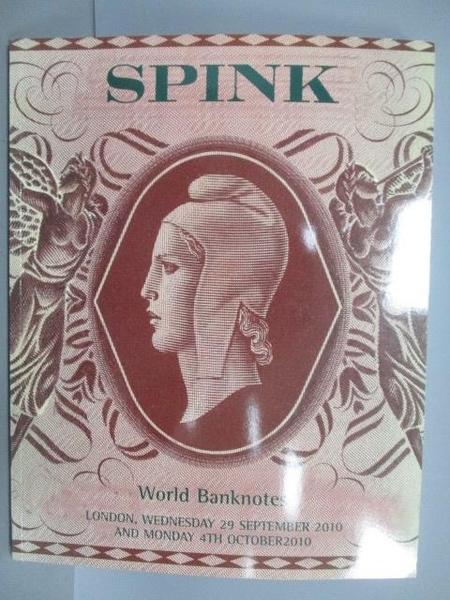 【書寶二手書T3/收藏_EJT】Spink London_World Banknotes_2010/10/4