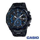 CASIO卡西歐 極限運動三眼計時男腕錶-藍x49mm  EFR-539BK-1A2