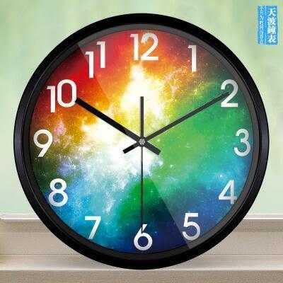 創意客廳鐘錶大個性時鐘靜音臥室時尚復古藝術壁掛錶【511】