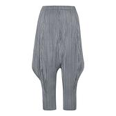 哈倫褲-高彈力寬鬆束腳七分皺褶女休閒褲3色73zz30【巴黎精品】