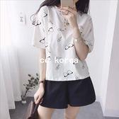 現貨 韓國製 眼鏡 減齡棉T恤 CC KOREA ~ Q10358