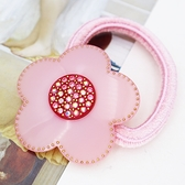 【粉紅堂 髮飾】超可愛花朵水鑽髮束 *粉紅色*