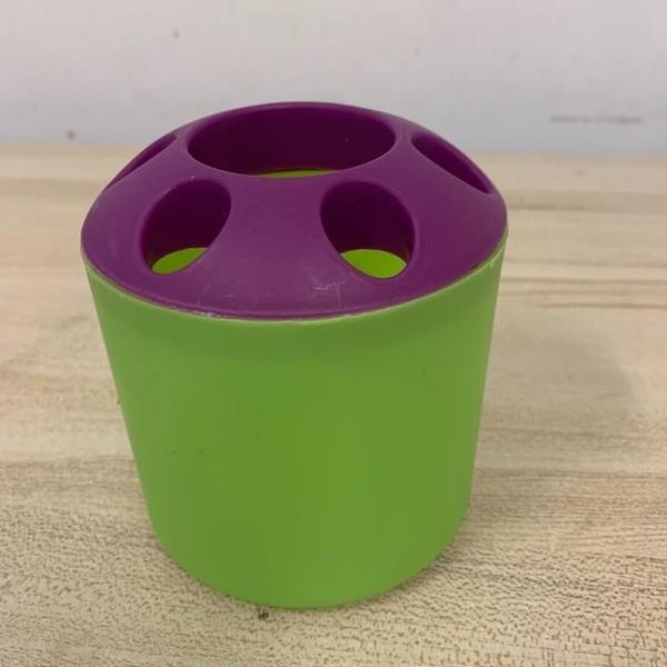 創意多孔牙膏牙刷架多功能桌面筆筒置物筒文具架(10*10/777-10642)