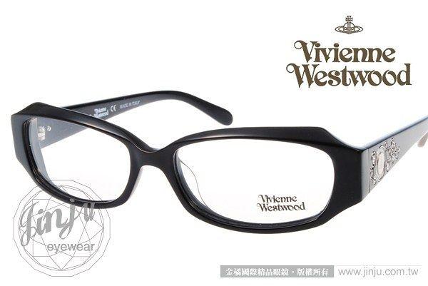 『金橘眼鏡』Vivienne Westwood眼鏡 水鑽星球# VW207 02 黑