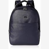 A/X 阿瑪尼AX標識人造皮背包(深藍色)