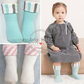 襪子 兒童 韓版 條紋 反摺 寶寶 翻口 糖果襪 BW