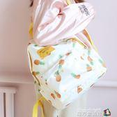韓版chic原宿風手提背包軟妹少女心滿滿菠蘿防水中學生後背包書包 魔方數碼館
