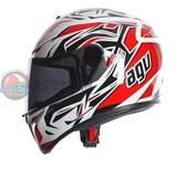 [中壢安信]義大利 AGV K-3 SV K3 SV ROOKIE 白灰紅 全罩 安全帽 送涼感頭套