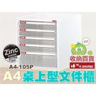 樹德 桌上型文件櫃 A4-105P (檔案櫃/資料櫃/公文櫃/收納櫃/效率櫃)