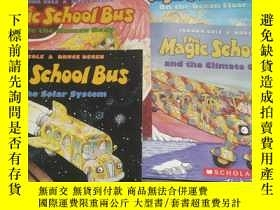 二手書博民逛書店Magic罕見School Bus 神奇校車系列 英文原版 4本Y12480 Joanna Cole Scho