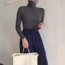秋冬2019網紅t恤女潮流韓版新款長袖高領內搭上衣加絨加厚打底衫 伊鞋本鋪