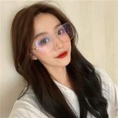 眼鏡女韓版潮方形網紅款街拍大框大臉顯瘦平光鏡架復古文藝眼鏡框