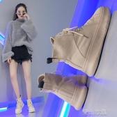 馬丁靴繫帶馬丁靴女秋季 新款英倫風靴子女冬短靴厚底百搭帥氣馬丁鞋 青山市集