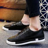 商務休閒男鞋韓版英倫復古青年皮鞋潮流運動百搭板鞋子男士  瑪奇哈朵