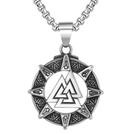 《QBOX 》FASHION 飾品【CP0745】精緻個性北歐維京三角能量護身符鑄造鈦鋼墬子項鍊/掛飾