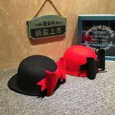 萬聖節大促銷 韓版兒童帽子秋冬新款呢料鴨舌帽女童后蝴蝶結個性禮帽馬術遮陽帽