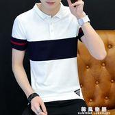 男士純棉短袖Polo衫男襯衫領T恤短袖青年夏裝潮流衣服保羅衫T恤男  韓風物語