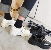 牛津鞋 英倫風女鞋漆皮粗跟單鞋學院風厚底鬆糕春季韓版小皮鞋女休閒鞋 歌莉婭