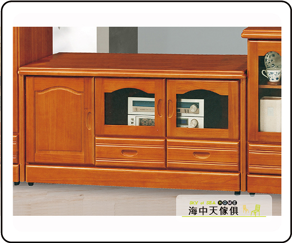 {{ 海中天休閒傢俱廣場 }} G-9 摩登時尚 客廳系列 202-2 柚木4尺矮櫃
