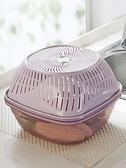 瀝水籃 廚房塑料洗菜籃家用鏤空洗菜盆菜籃子淘菜盆雙層透明瀝水籃水果籃