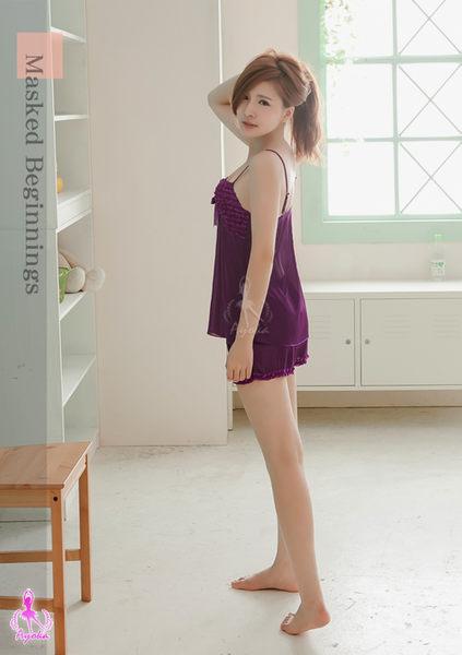 神秘紫色國度柔緞二件式睡衣 (OS shop)