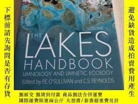 二手書博民逛書店The罕見Lakes Handbook - Limnology