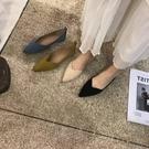 夏2021新款平底百搭豆豆鞋低跟尖头软底女鞋浅口套脚懒人鞋 『新佰數位屋』