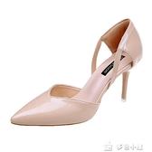 網紅同款涼鞋女夏2019新款細跟性感歐美風高跟鞋時尚尖頭原宿女鞋多色小屋
