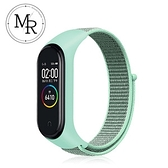 MR 小米手環3/4通用尼龍編織運動替換錶帶(蘋果綠)