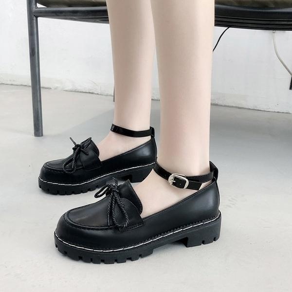 娃娃鞋鬆糕鞋女日系jK制服鞋原宿圓頭小皮鞋厚底軟妹鞋子學院娃娃單鞋女 交換禮物