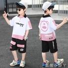 兒童裝男童夏裝套裝2021新款洋氣男孩夏季薄款韓版帥氣時髦運動潮 蘿莉新品