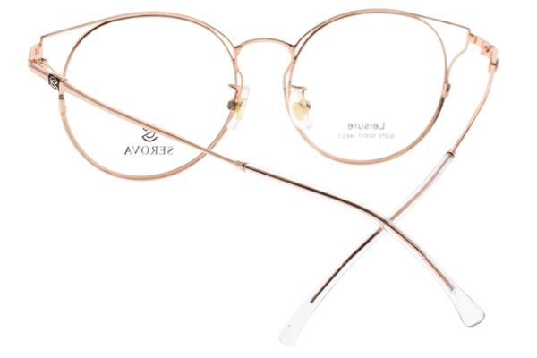 SEROVA光學眼鏡 SL272 C01 (玫瑰金) 小清新貓眼款 眼鏡框 #金橘眼鏡