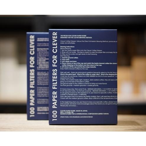 【沐湛咖啡】Clever Dripper 聰明濾杯 日本製 原廠濾紙 (S號/L號) 扇形濾紙 102/103