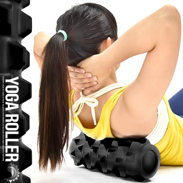 32CM實心短版瑜珈柱.EVA顆粒瑜珈滾輪狼牙棒按摩滾輪FOAM ROLLER運動健身器材推薦哪裡買專賣店ptt