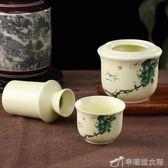 陶瓷黃酒白酒溫酒壺 日式家用復古燙酒壺 二兩溫酒器暖酒三件套裝 娜娜小屋