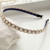 UNICO 韓版 兒童甜美蕾絲珍珠髮箍