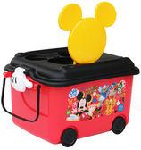 日本 迪士尼 Disney 黃色米奇(Mickey)堆疊式玩具收納車/收納箱