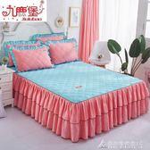 夾棉加厚床裙席夢思床墊保護床罩 單件床套加棉床 酷斯特數位3c