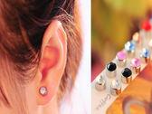 閃亮水鑽磁鐵耳鑽耳環 免耳洞 一對   【櫻桃飾品】【23754】
